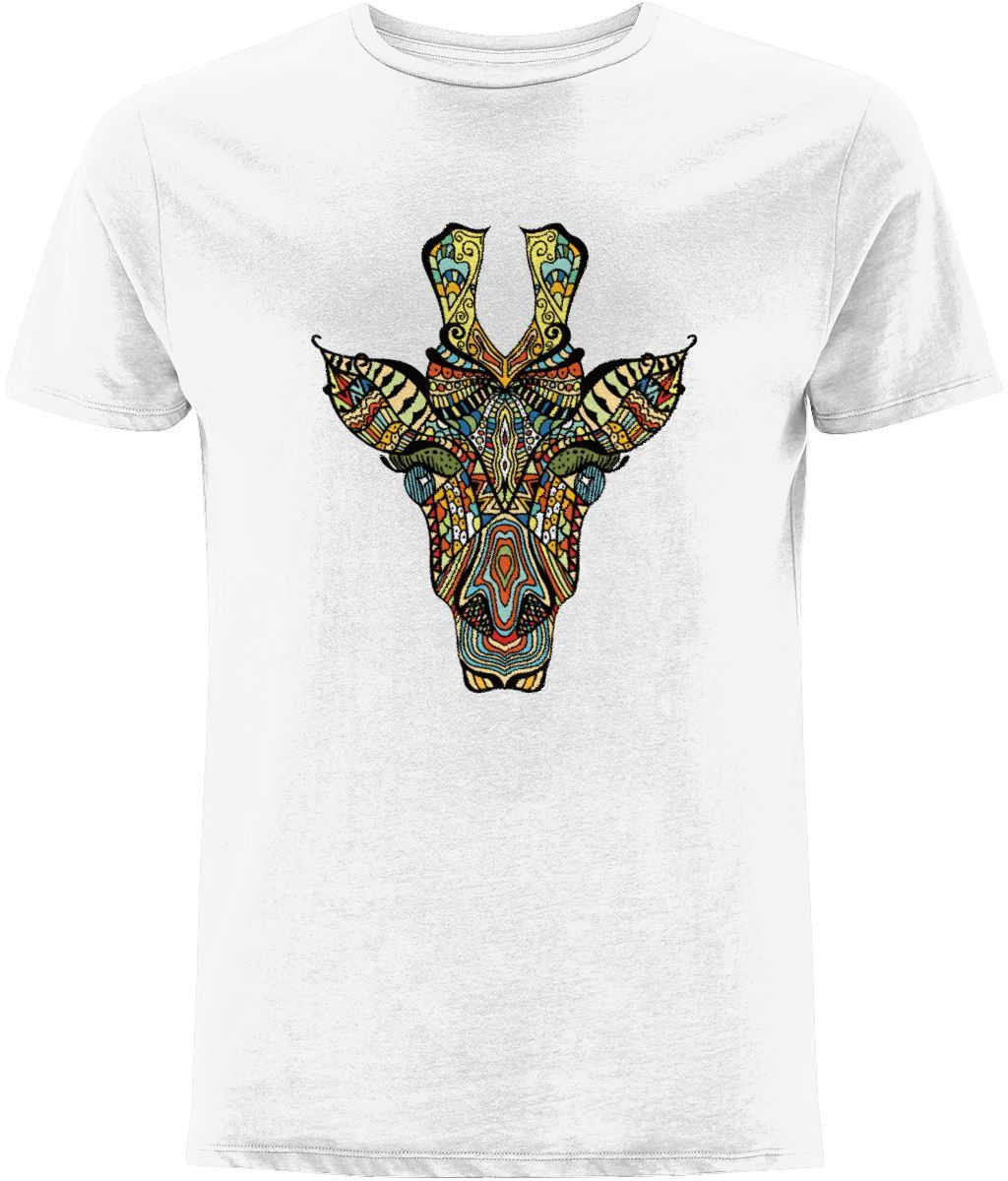 Ethnic Giraffe T-shirt Clothing IndianBelieves White X-Small