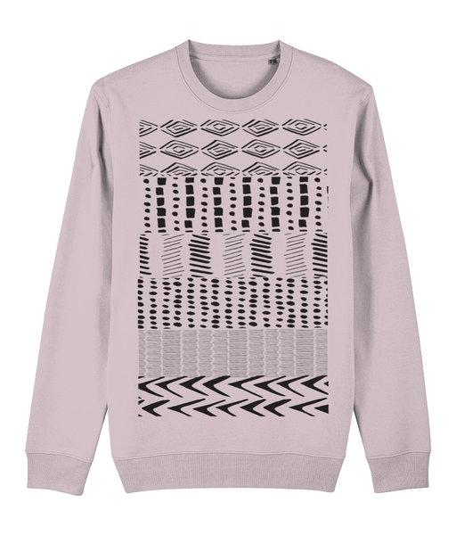 Ethnic Pattern I Sweatshirt Clothing IndianBelieves Cotton Pink X-Small