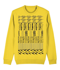 Ethnic Pattern I Sweatshirt Clothing IndianBelieves Golden Yellow X-Small