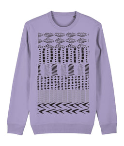 Ethnic Pattern I Sweatshirt Clothing IndianBelieves Lavender Dawn X-Small