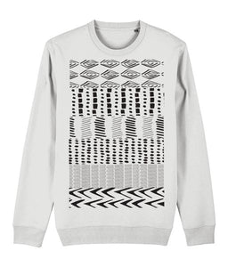 Ethnic Pattern I Sweatshirt Clothing IndianBelieves White X-Small
