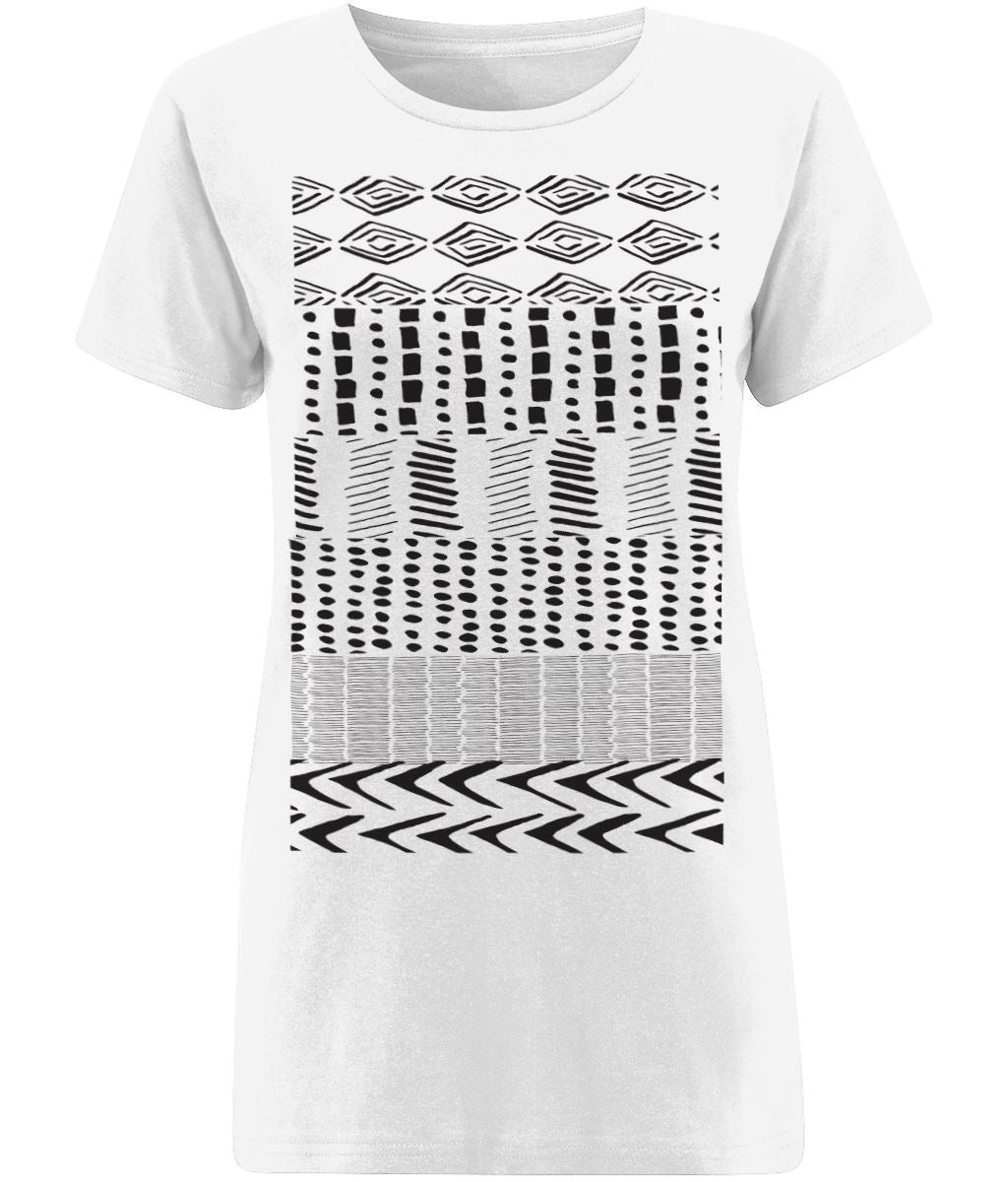 Ethnic Pattern I T-shirt Clothing IndianBelieves X-Small White
