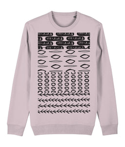 Ethnic Pattern II Sweatshirt Clothing IndianBelieves Cotton Pink X-Small