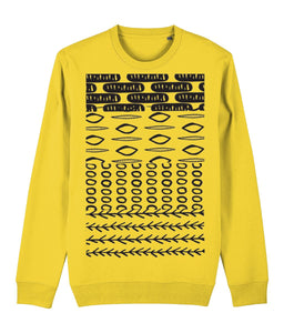 Ethnic Pattern II Sweatshirt Clothing IndianBelieves Golden Yellow X-Small