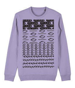 Ethnic Pattern II Sweatshirt Clothing IndianBelieves Lavender Dawn X-Small
