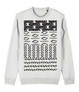 Ethnic Pattern II Sweatshirt Clothing IndianBelieves White X-Small