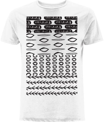 Ethnic Pattern II T-shirt Clothing IndianBelieves White X-Small