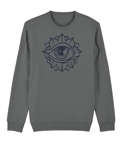Eye Flower Sweatshirt Clothing IndianBelieves Heather Grey X-Small