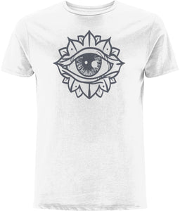 Eye Flower T-shirt Clothing IndianBelieves White X-Small