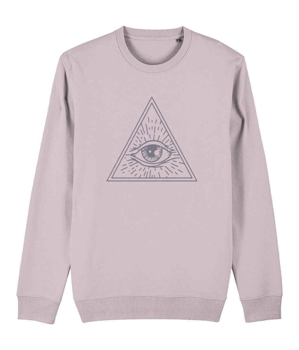 Eye of Providence I Sweatshirt Clothing IndianBelieves Cotton Pink X-Small