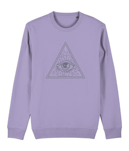 Eye of Providence I Sweatshirt Clothing IndianBelieves Lavender Dawn X-Small