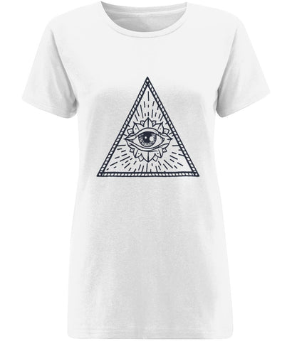 Eye of Providence II T-shirt Clothing IndianBelieves X-Small White