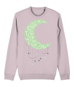 Green Moon Sweatshirt - IndianBelieves