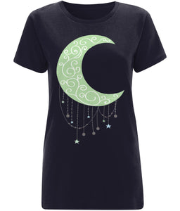 Green Moon T-shirt - IndianBelieves