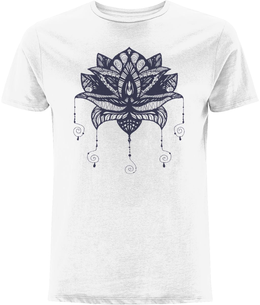 Lotus Flower I T-shirt Clothing IndianBelieves White X-Small