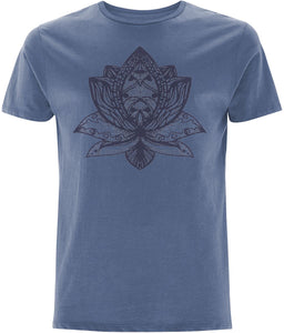 Lotus Flower III T-shirt Clothing IndianBelieves Faded Denim X-Small