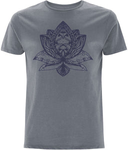 Lotus Flower III T-shirt Clothing IndianBelieves Light Charcoal X-Small