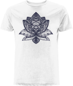 Lotus Flower III T-shirt Clothing IndianBelieves White X-Small