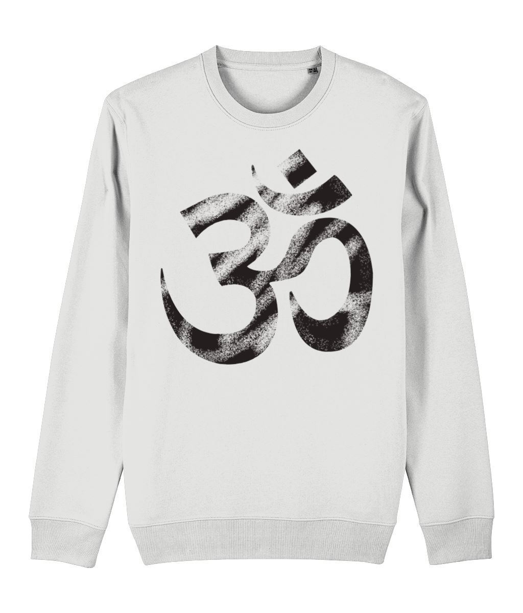 OM Sweatshirt Clothing IndianBelieves White X-Small
