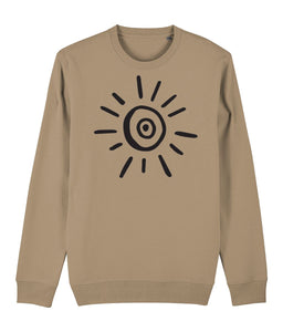 Sun Symbol Sweatshirt Clothing IndianBelieves Camel X-Small
