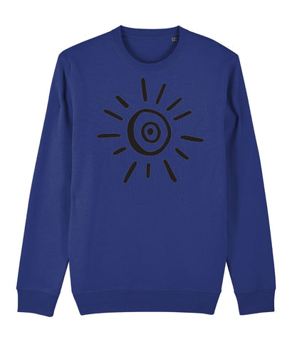 Sun Symbol Sweatshirt Clothing IndianBelieves French Navy X-Small
