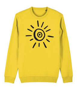 Sun Symbol Sweatshirt Clothing IndianBelieves Golden Yellow X-Small