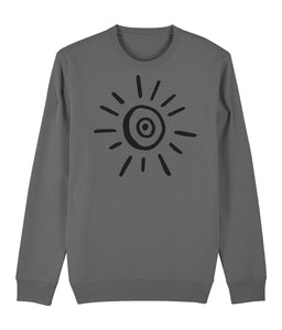 Sun Symbol Sweatshirt Clothing IndianBelieves Heather Grey X-Small
