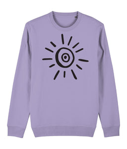 Sun Symbol Sweatshirt Clothing IndianBelieves Lavender Dawn X-Small
