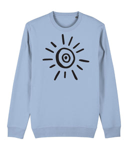 Sun Symbol Sweatshirt Clothing IndianBelieves Sky Blue X-Small