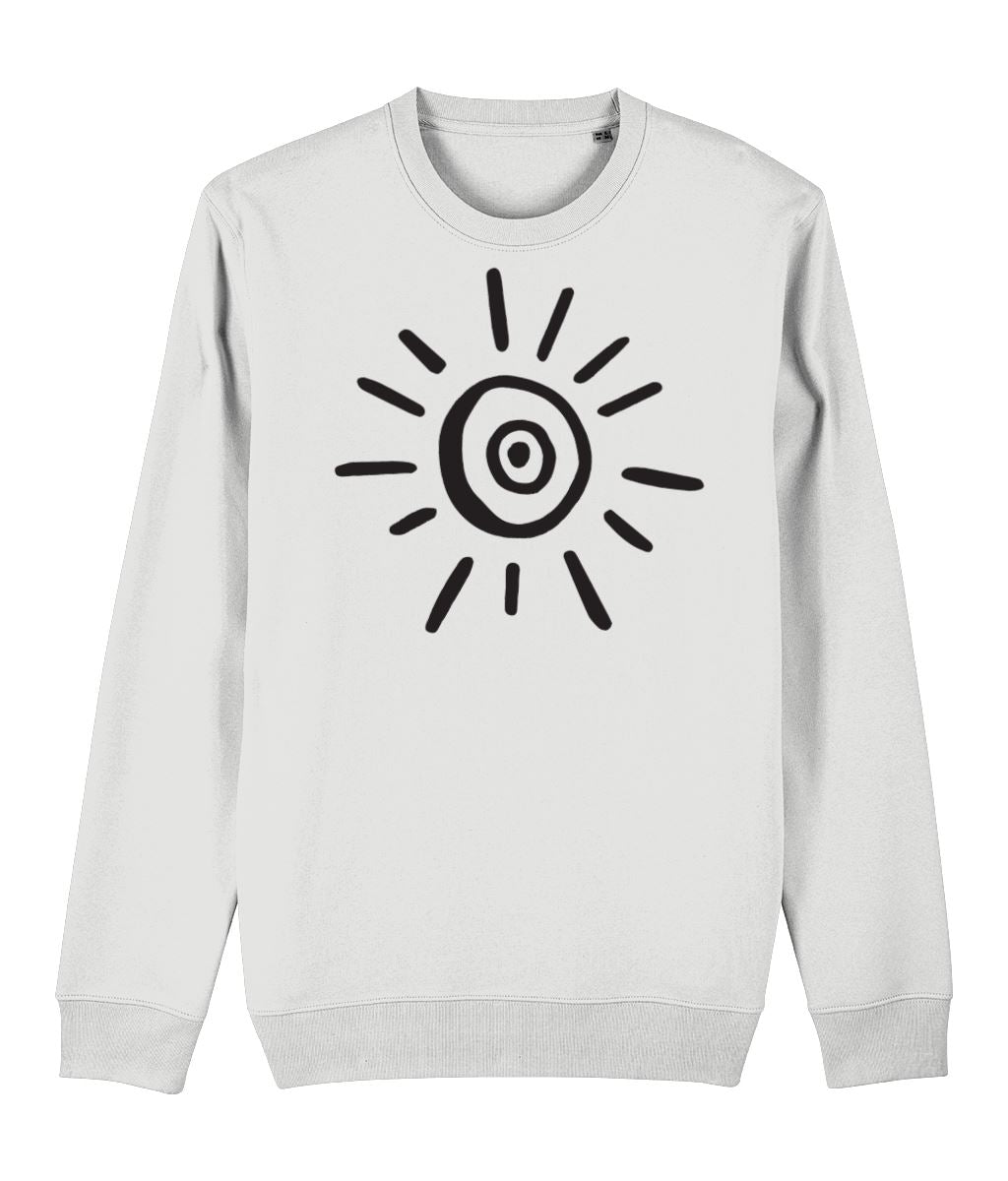 Sun Symbol Sweatshirt Clothing IndianBelieves White X-Small