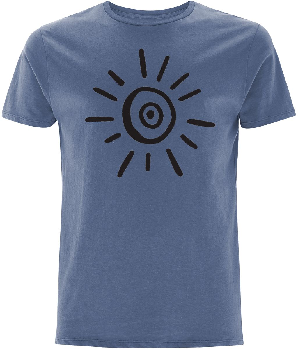 Sun Symbol T-shirt Clothing IndianBelieves Faded Denim X-Small