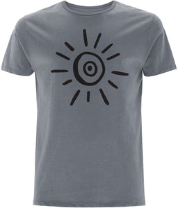 Sun Symbol T-shirt Clothing IndianBelieves Light Charcoal X-Small