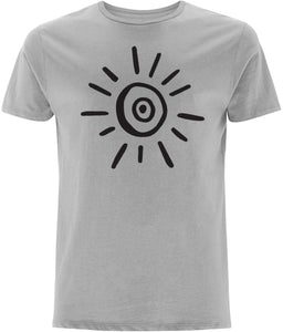 Sun Symbol T-shirt Clothing IndianBelieves Melange Grey X-Small