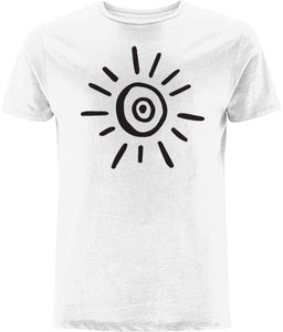 Sun Symbol T-shirt Clothing IndianBelieves White X-Small