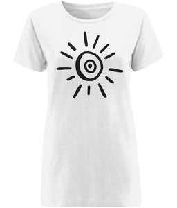 Sun Symbol T-shirt Clothing IndianBelieves X-Small White