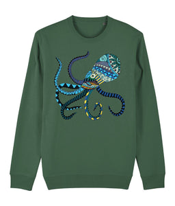 The Blue Octopus Sweatshirt - IndianBelieves