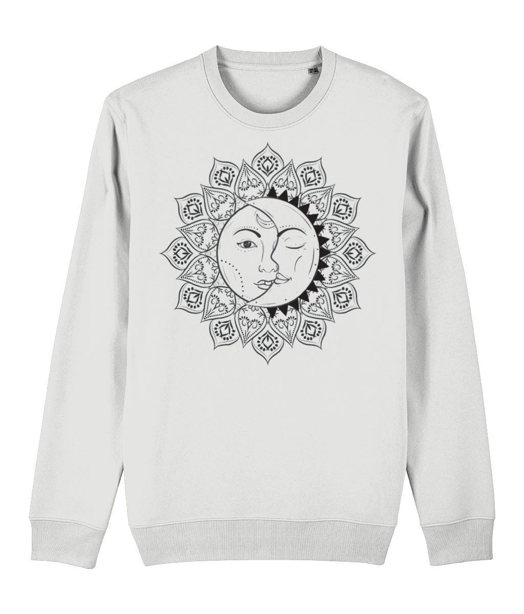 The Sun & The Moon Sweatshirt Clothing IndianBelieves White X-Small