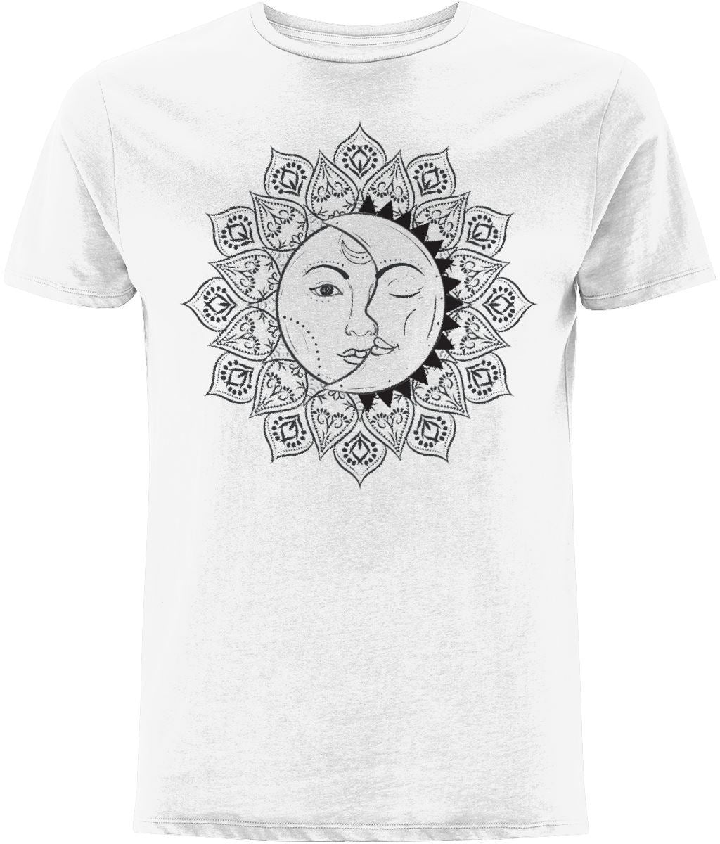 The Sun & The Moon T-shirt Clothing IndianBelieves White X-Small