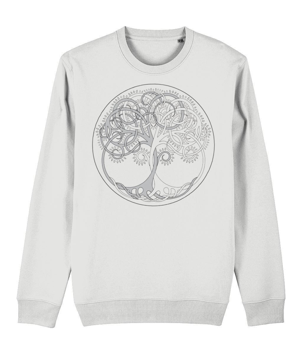 Tree of Life Sweatshirt Clothing IndianBelieves White X-Small