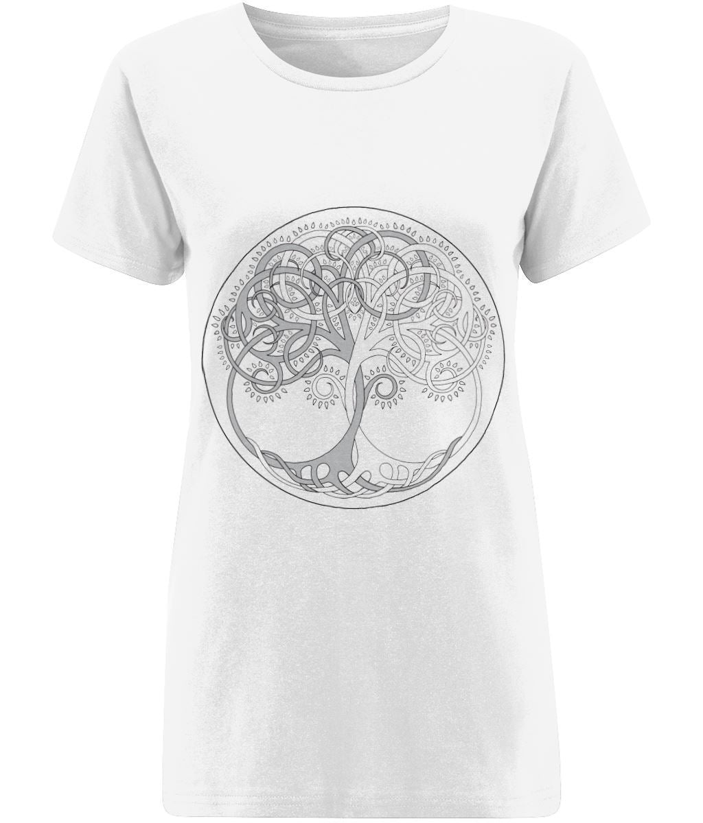 Tree of Life T-shirt Clothing IndianBelieves X-Small White