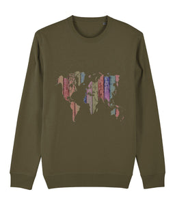 World Map Sweatshirt - IndianBelieves