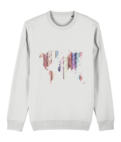 World Map Sweatshirt Clothing IndianBelieves White X-Small
