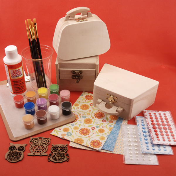 Inside decoupage art kit for 13 years & up