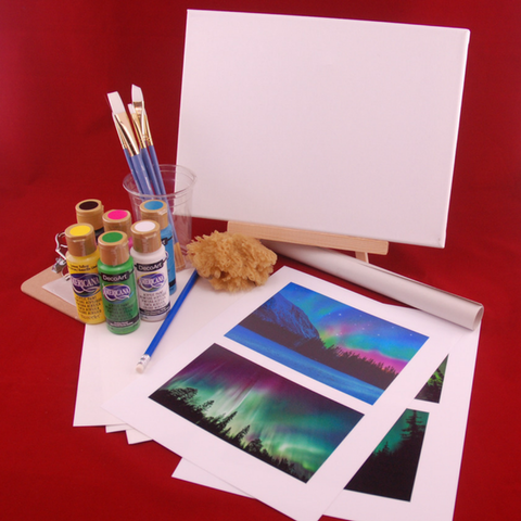 Included in our Northern Lights Painting Kit for teens
