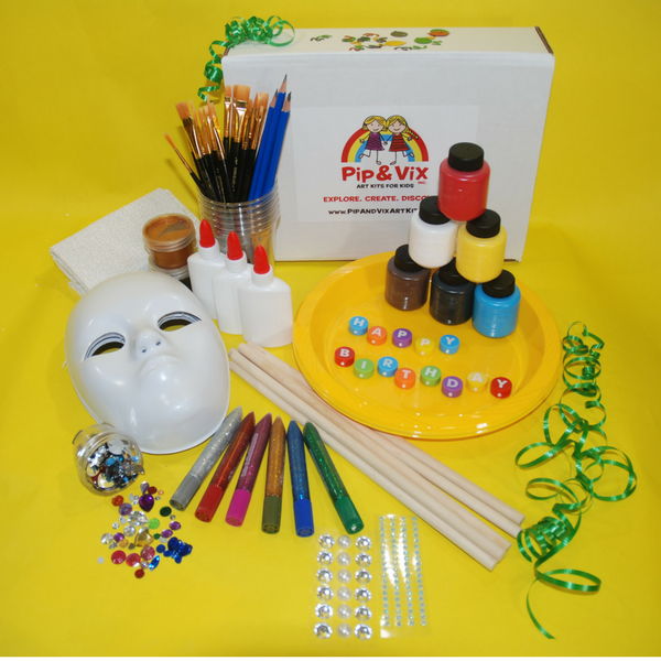 Kids get creative designing a one of a kind Venetian mask!