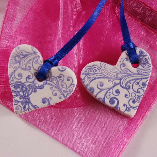 Clay Heart Necklaces (13+)