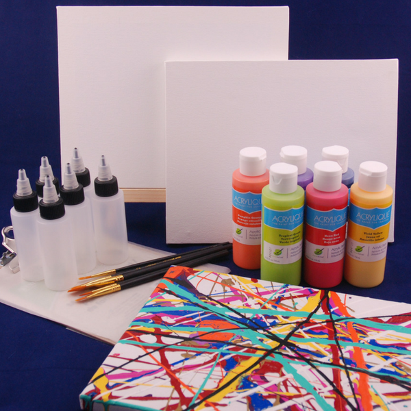 Splatter Painting Fun Art Box for 3-6 year olds, delivered!