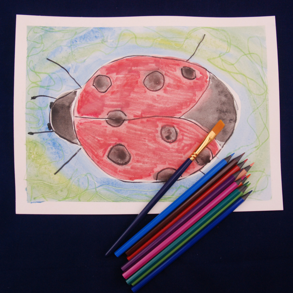 Insect Watercolour Painting for 3-6 year olds sample