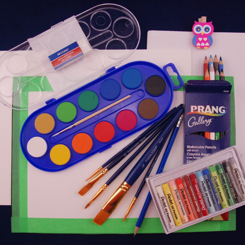 Watercolour Resist Art Lesson in a box for little learners!