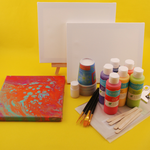 Art Party Fun for Teens | Paint Pouring Technique Party Pack